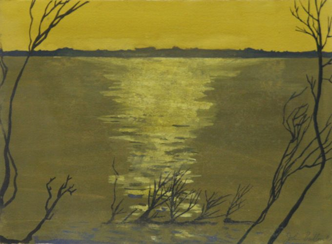 John Button, Untitled (Yellow Sunset)