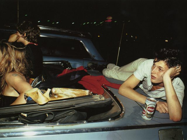 Nan Goldin, French Chris at the drive-in, New Jersey