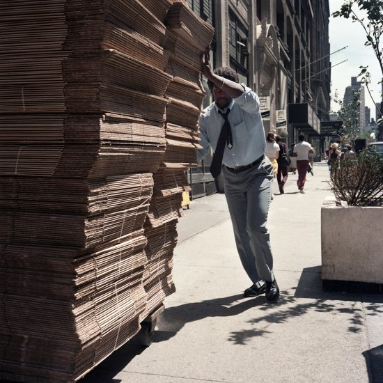 Janet Delaney, Man Pushing Boxes