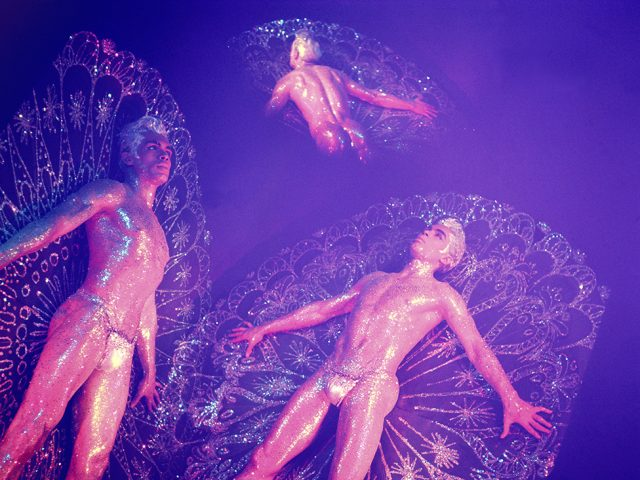 James Bidgood, Triple Exposure of Jack Frost with Orchid Filter
