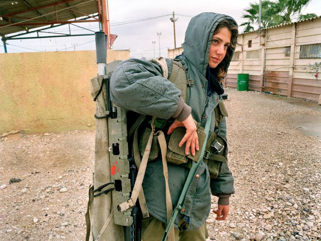 Rachel Papo, Carrying a stretcher, Tsaelim, Israel