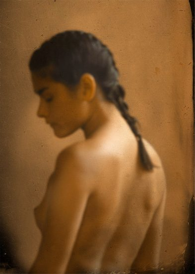 Woman Nude with Ponytail