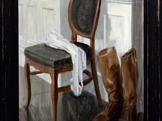 Mark Beard, Bruce Sargeant, Still Life with Chair Shirt and Hunting Boots