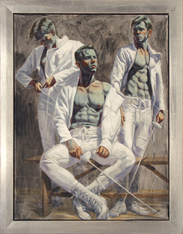 [Bruce Sargeant (1898-1938)] Three Fencers