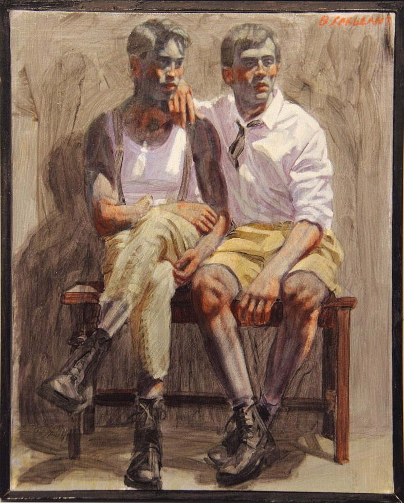 Mark Beard, Bruce Sargeant, Two Boys Seated on a Bench