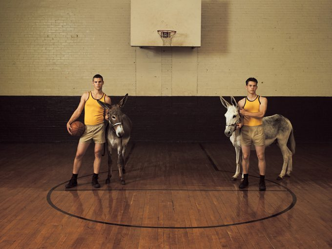 Luke Smalley, Donkey Basketball
