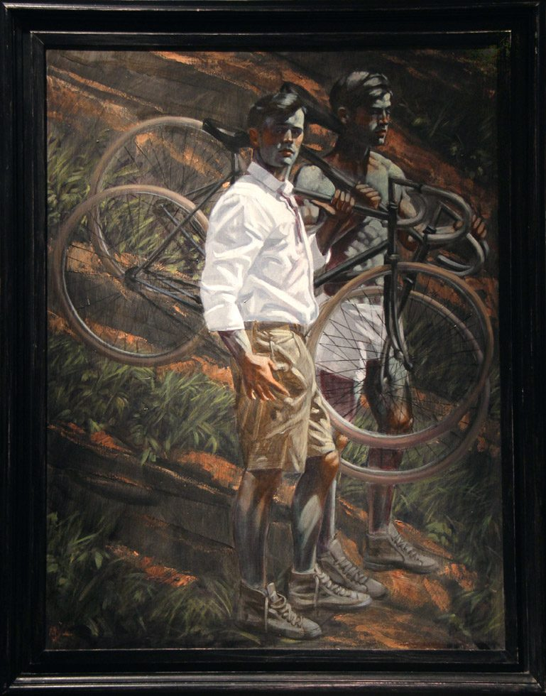[Bruce Sargeant (1898-1938)] Two Men with Bicycles