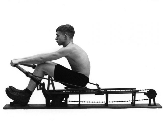 Luke Smalley, Rowing Machine Side View