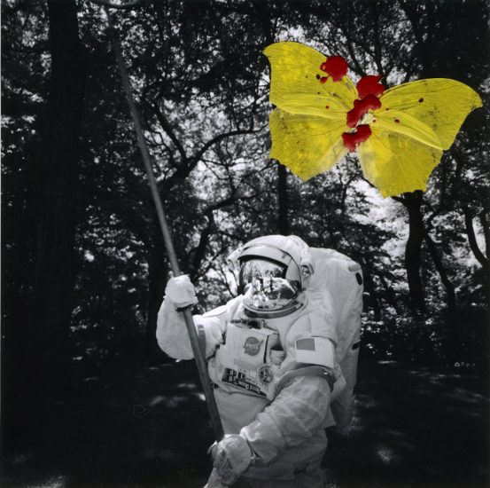 Stan Gaz, Astronaut with Yellow Butterfly