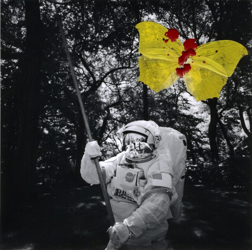 Astronaunt with Yellow Butterfly
