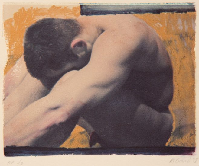 Mark Beard, Untitled Male Nude, Polaroid Transfer