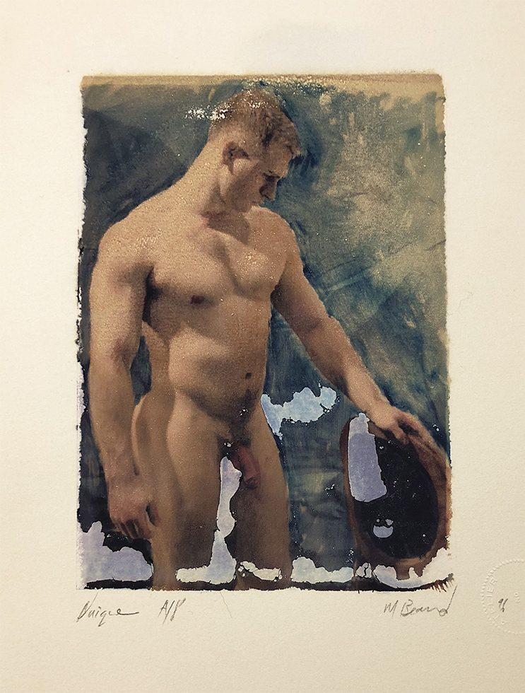 Untitled (Male Nude Leaning on Chair)