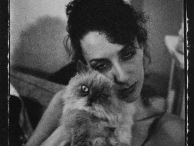 Mark Morrisroe, Untitled (Janet with Cat)