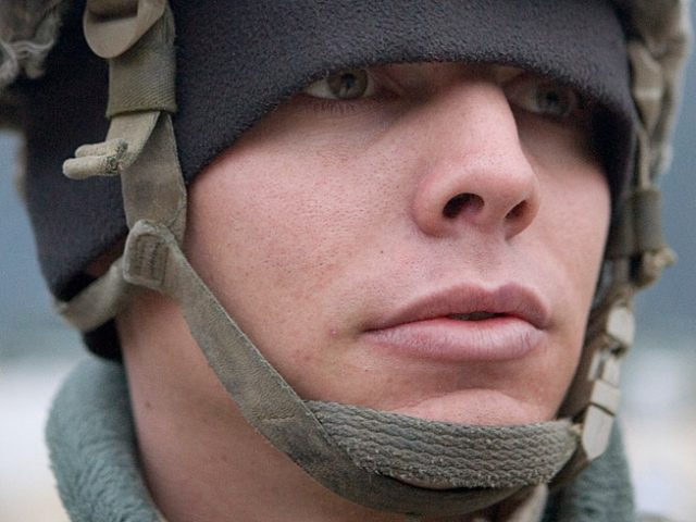 "Chad Hunt, ""I enjoyed my first fire-fight so mouch I re-enlisted for six more years the next day,"" SPC Corey Brower, 21, Huntington Beach, CA, The Korengal Outpost, Afghanistan"