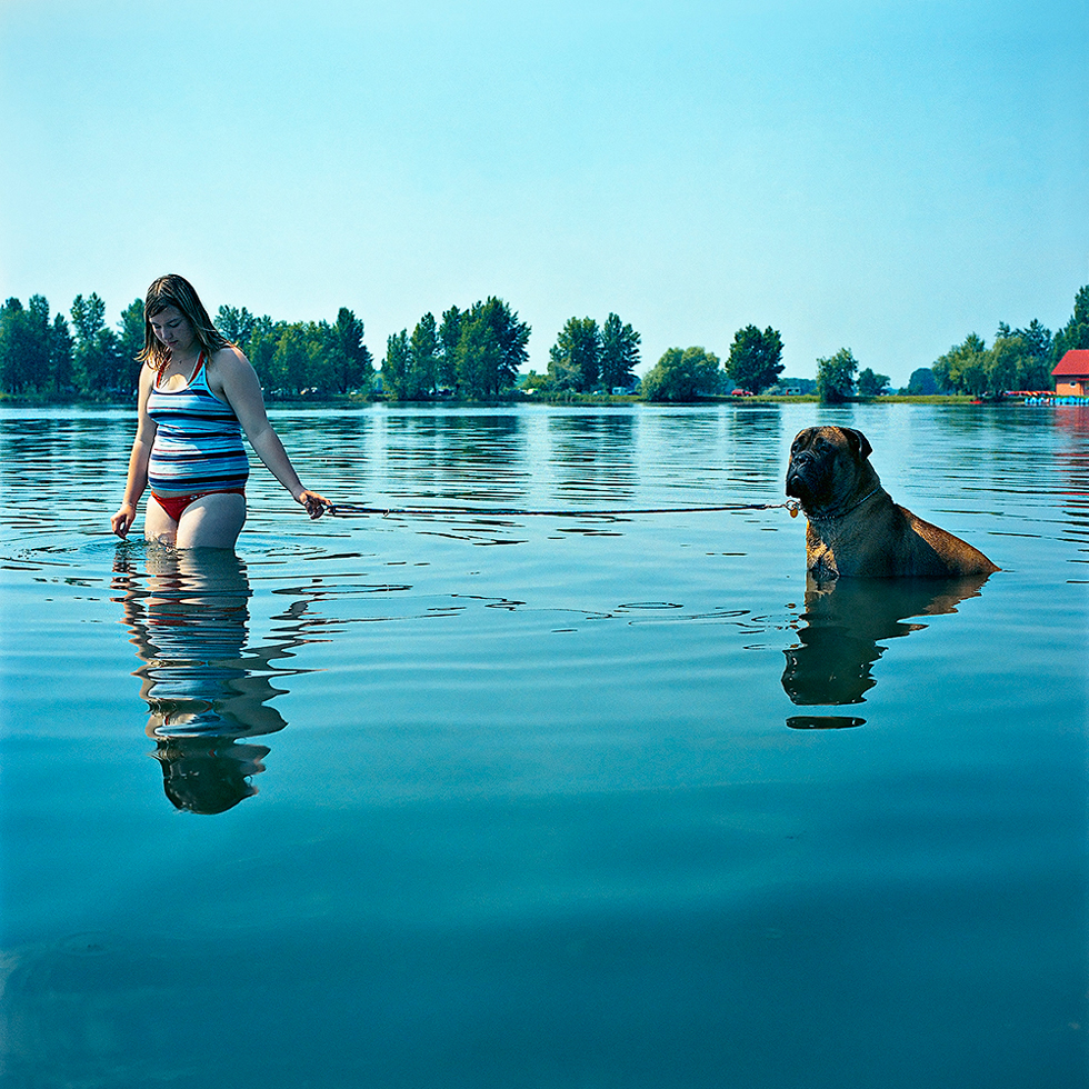 Untitled (Girl with Dog in Water)