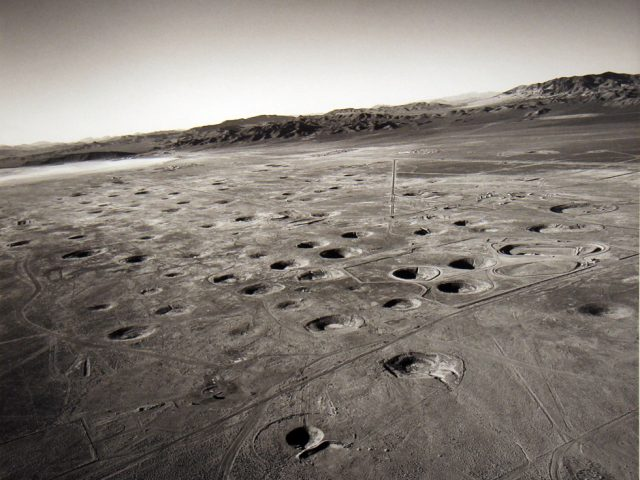 Emmet Gowin, Subsidence Craters on Yucca Flat