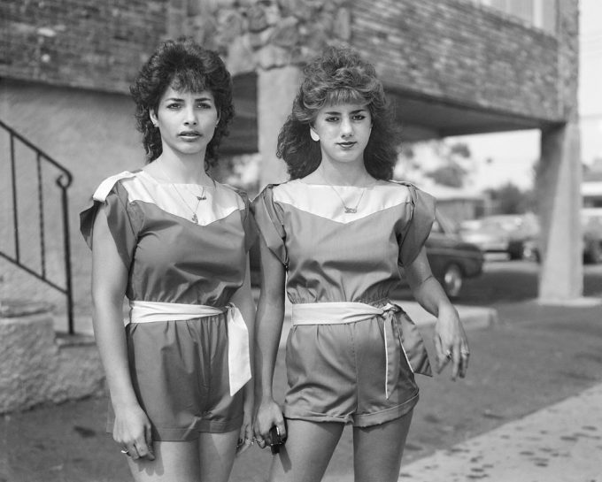 Christine Osinski, Two Girls with Matching Outfits