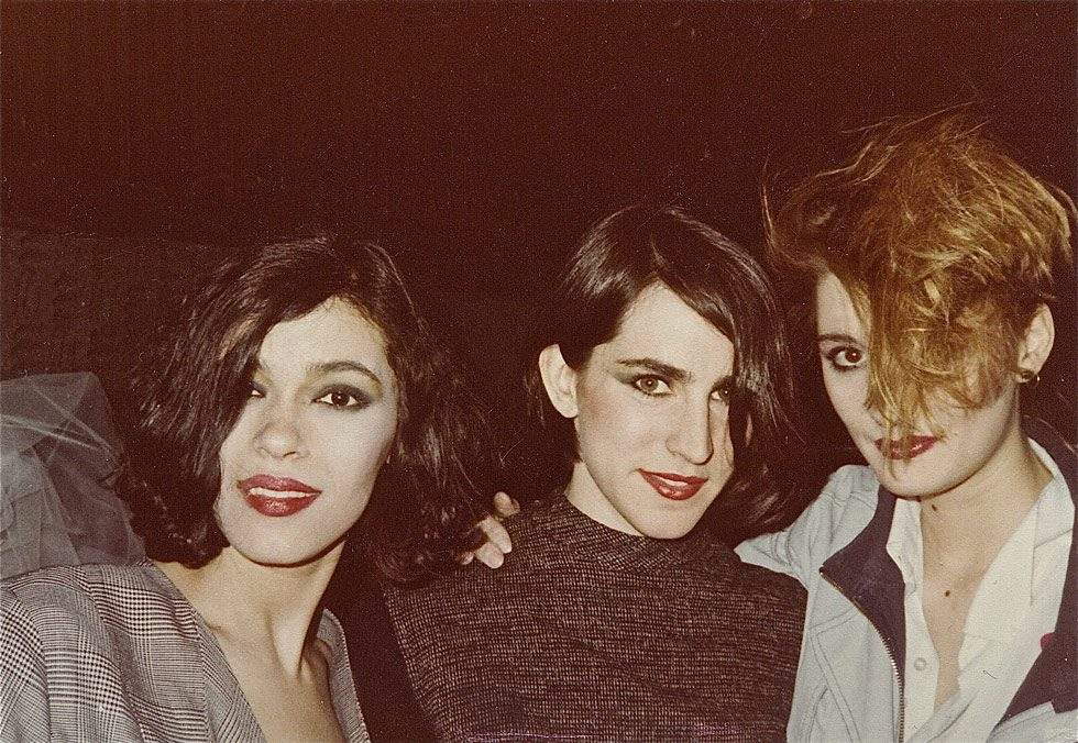Luisa, Theresa, and Wendy at fashion show at Danceteria nightclub