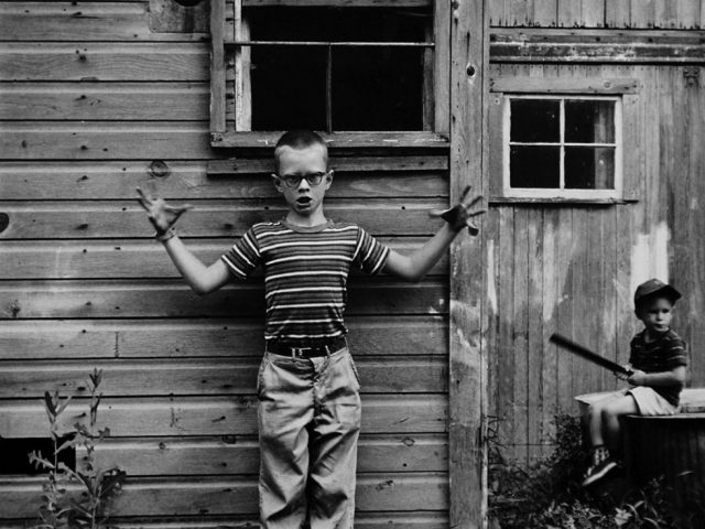 Ralph Eugene Meatyard, Untitled (boy making gesture)
