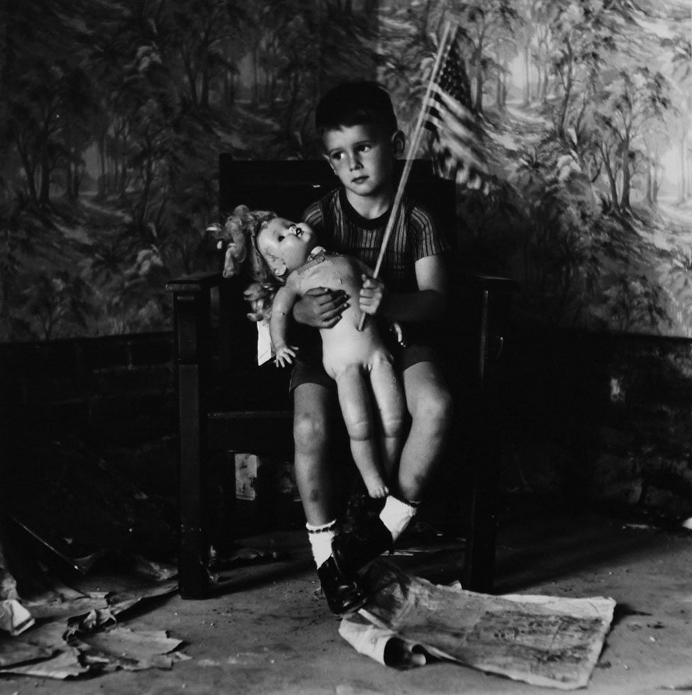 Untitled (Boy with Flag) [Christopher and the Rebuilding of America]