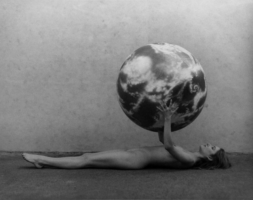 Nude Woman with Model of the Earth