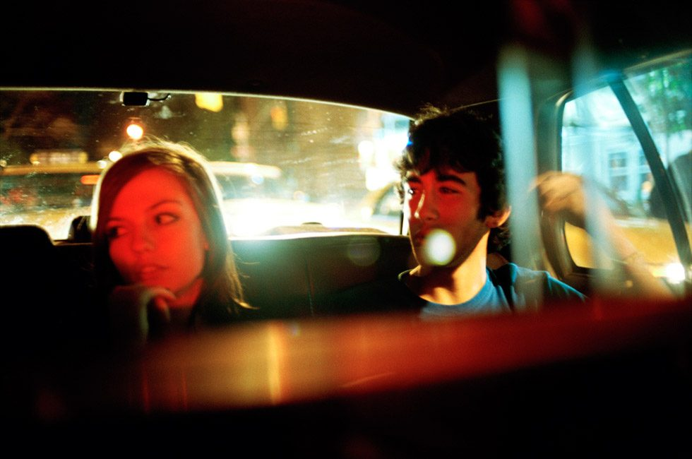 Emily and Matt in a Cab