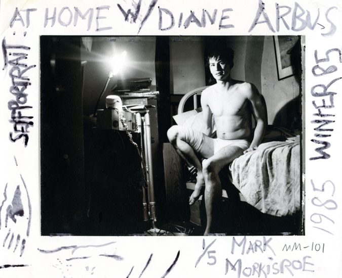 Mark Morrisroe, Self Portrait at home with Diane Arbus