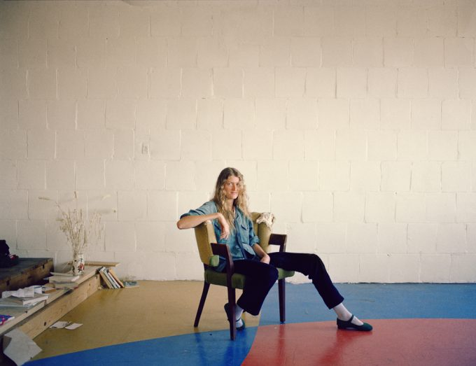 Janet Delaney, Artist in her studio, Project One, 10th at Howard Street