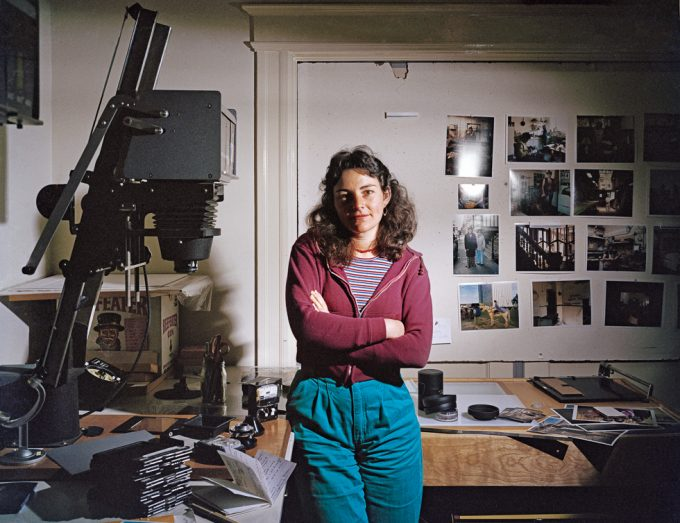 Janet Delaney, Janet Delaney in her darkroom at 62 Langton Street