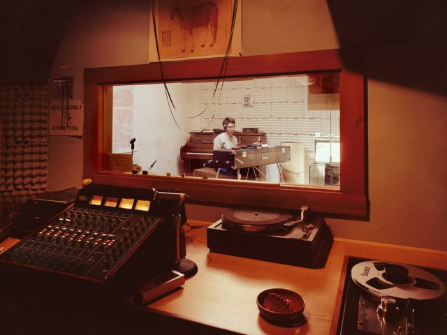 Janet Delaney, Perry Lancaster in his sound studio, 71 Langton Street
