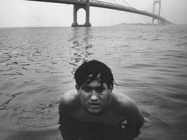Arthur Tress, Boy in Water Under Bridge