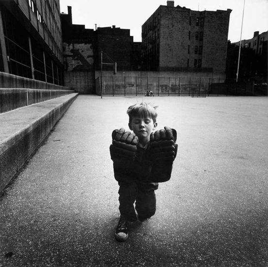 Arthur Tress, Boy With Hockey Gloves