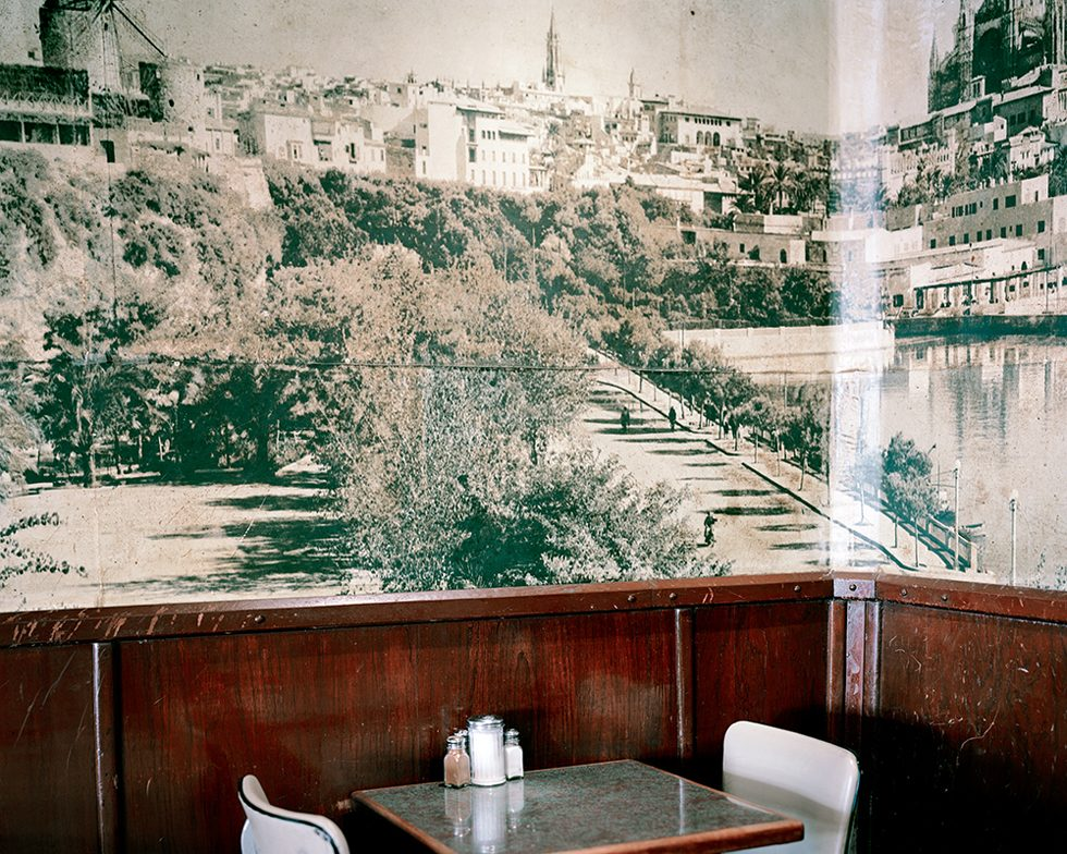 Landscape of Spain in Cafe Mallorca
