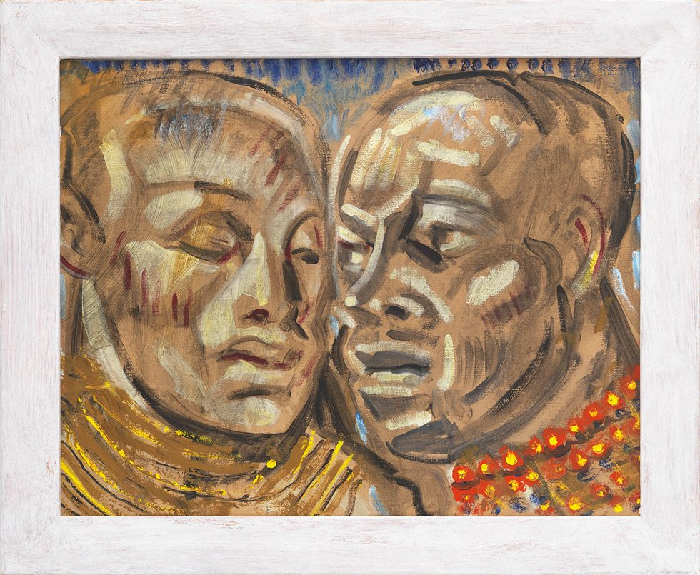 [Edith Thayer Cromwell (1893-1962)] Two Maasai Warriors