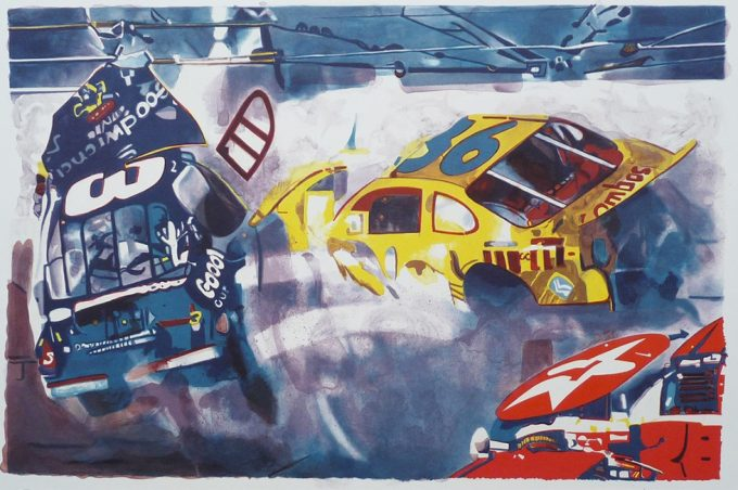 Malcolm Morley, Death of Dale Earnhardt II