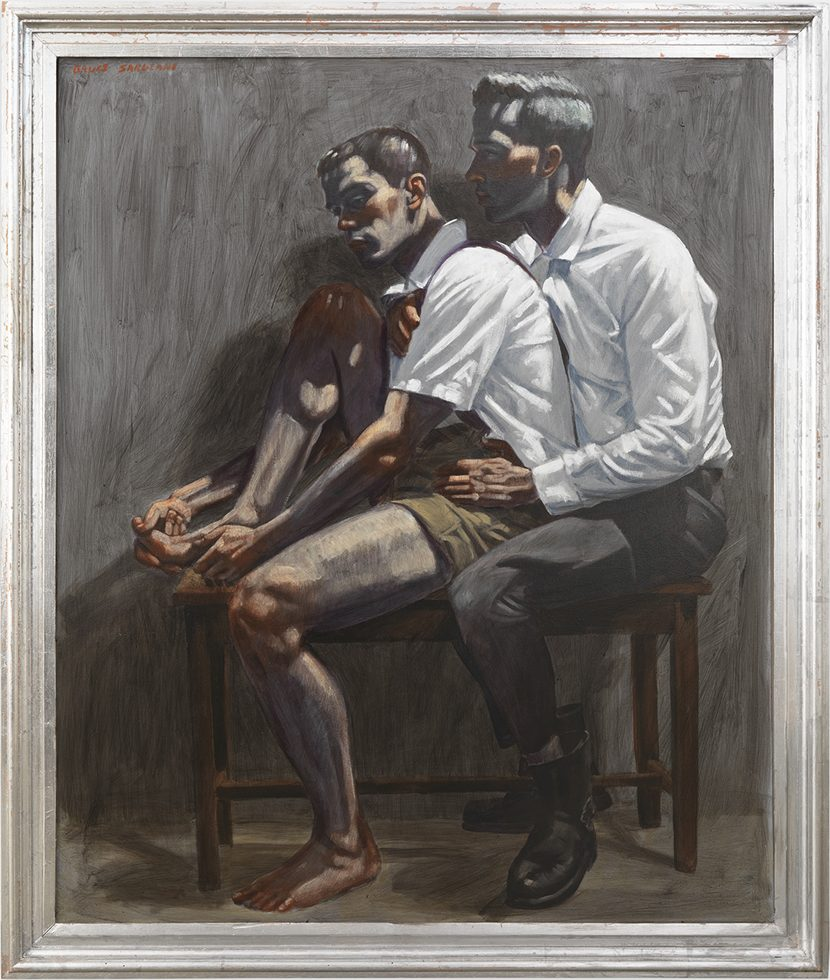 [Bruce Sargeant (1898-1938)] Two Boys on a Piano Bench