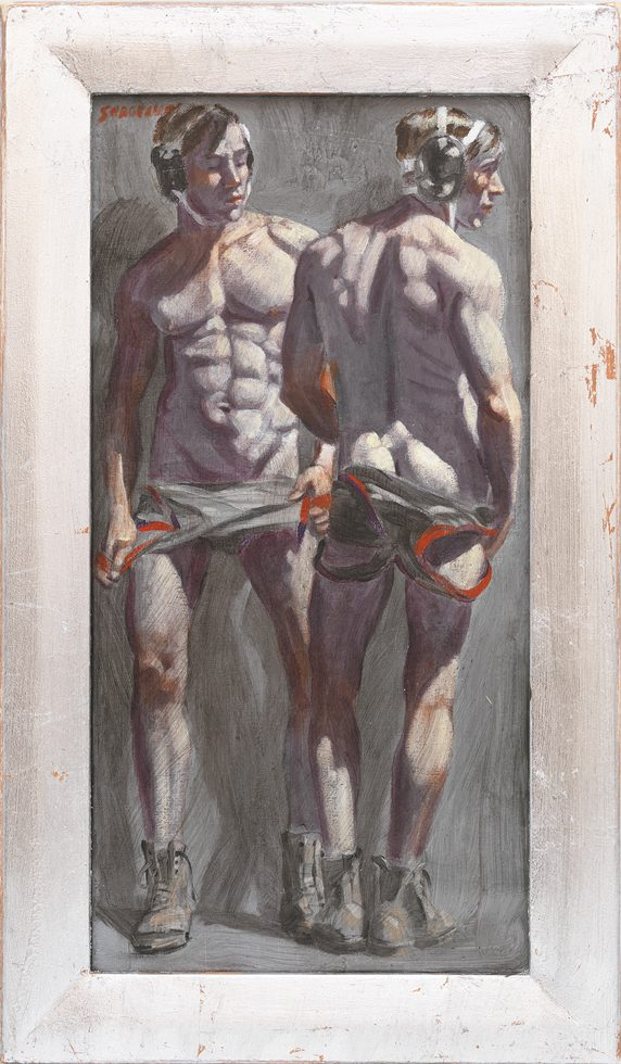 [Bruce Sargeant (1898-1938)] Two Wrestlers