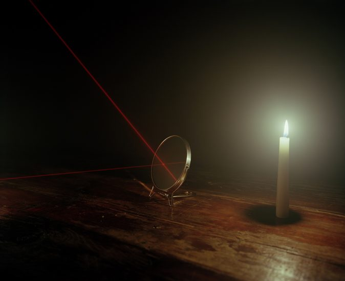 Adam Ekberg, Candle, mirrors and laser
