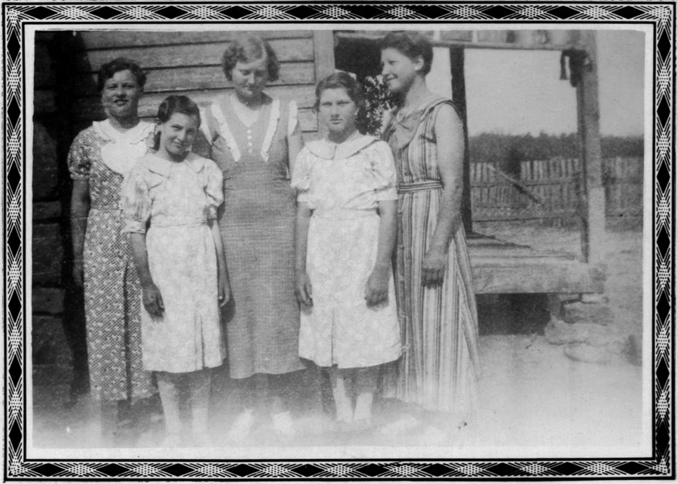 Untitled (Three women and two girls)