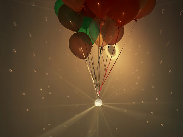 Balloon and disco ball