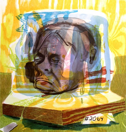 Dana Schutz, Untitled (Head of Timothy Leary)