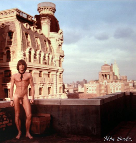 Peter Berlin, Self Portrait on the Roof of The Ansonia