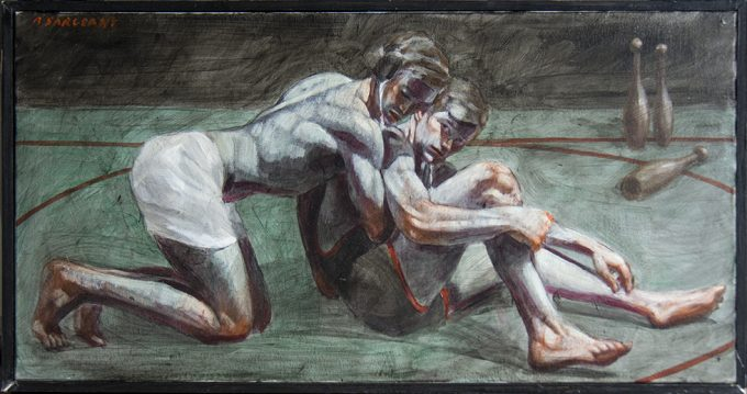 Mark Beard, [Bruce Sargeant] Two Wrestlers on the Mat