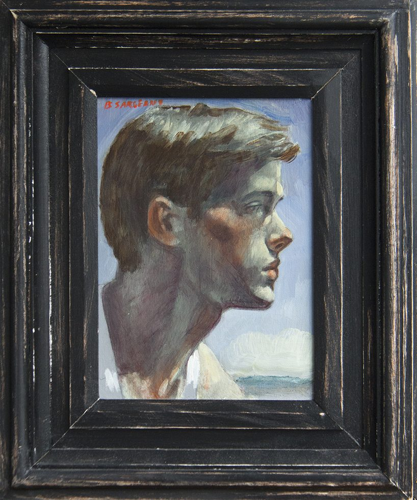 Mark Beard, [Bruce Sargeant] Young Man in Profile