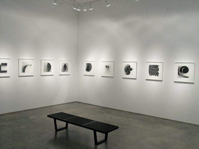 Ion Zupcu, New works on paper, installation shot 1