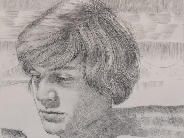 Paul P, Unititled graphite pencil drawing, Artist, young men, contemporary art
