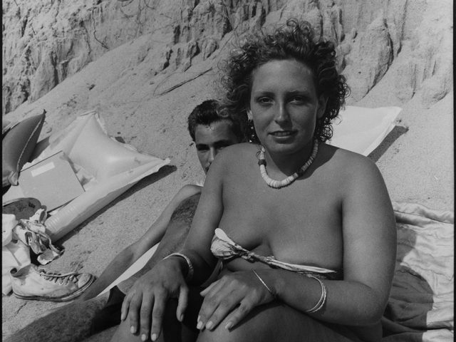 David Armstrong, Paula and Rob at Herring Cove, Provincetown, 1976