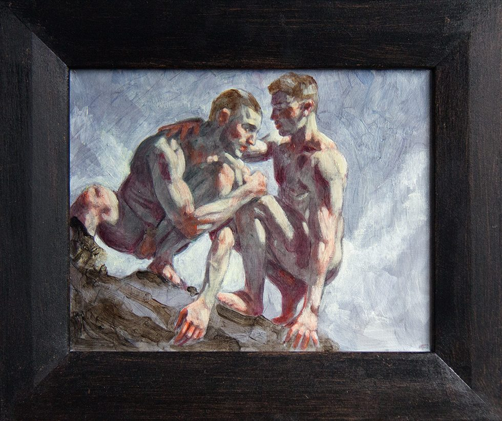 [Bruce Sargeant (1898-1938)] Two Men on a Rock