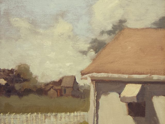 Kathryn Keller, Cottage with a White Fence