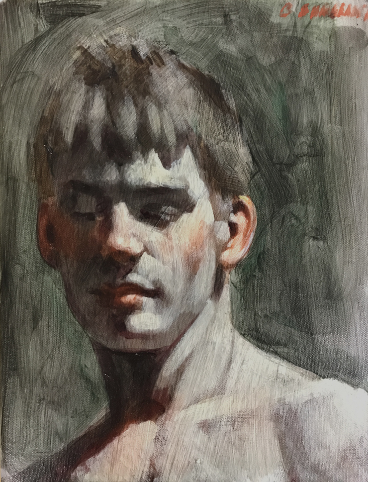[Bruce Sargeant (1898-1938)] Young Man Looking Down